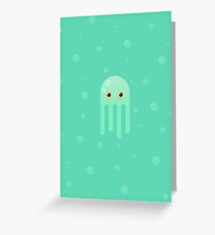 Lime Jellyfish Greeting Card