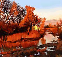 Finn Slough in Autumn by Brad Collins