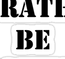 Right Now, I'd Rather Be Baking - Black Text Sticker