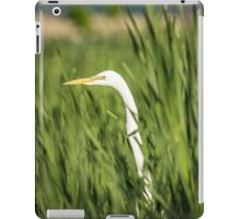 Great Egret In The Cattails iPad Case/Skin