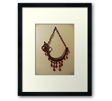 Red Crystal Ship - Wall Jewellery Framed Print