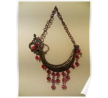 Red Crystal Ship - Wall Jewellery Poster