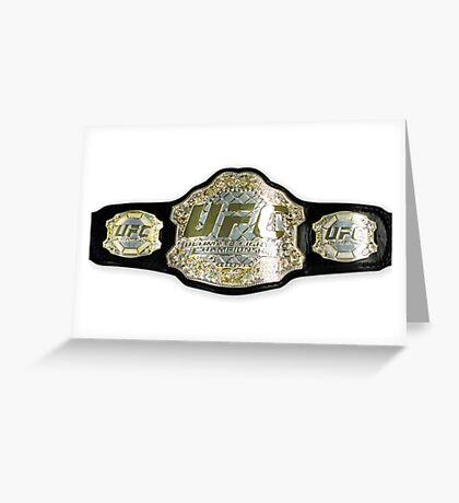UFC belt Greeting Card