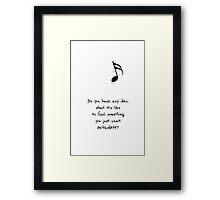 Darren Criss - Words Framed Print