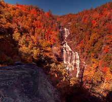 Late October at Whitewater Falls by James Hoffman