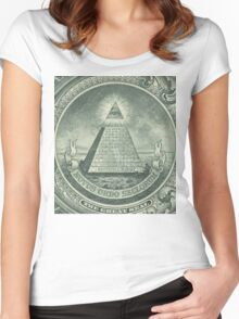 Illuminati and Biscuits Women's Fitted Scoop T-Shirt