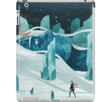 The wanderer and the ice forest iPad Case/Skin