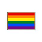 Rainbow Flag Mug (Rainbow Border)  by Mark Podger