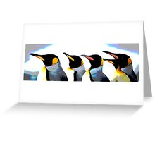 Sparkly Penguins Greeting Card