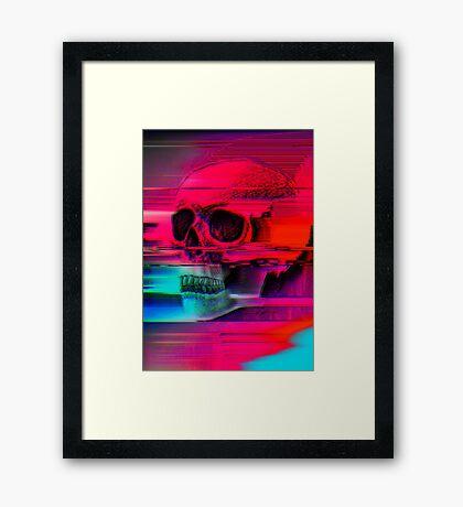 Mortality Glitch Framed Print