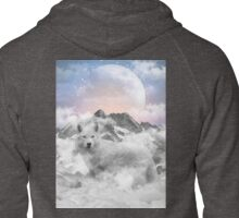 The Soul That Sees Beauty (Winter Moon / Wolf Spirit) Zipped Hoodie