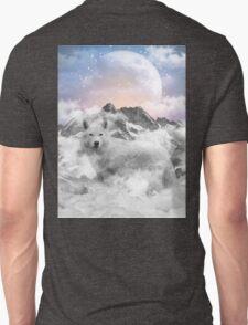 The Soul That Sees Beauty (Winter Moon / Wolf Spirit) Unisex T-Shirt