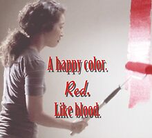 Cristina Yang - A happy color. Red. Like Blood. by cristinaandmer