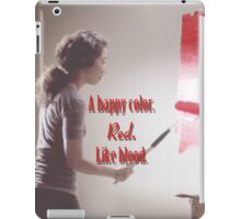 Cristina Yang - A happy color. Red. Like Blood. iPad Case/Skin