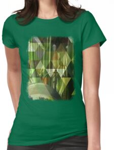 Cactus Garden Art Triangles 1 Womens Fitted T-Shirt