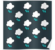 Rain Cloud Pattern Poster
