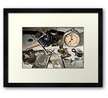 About Time : the photographer desk Framed Print