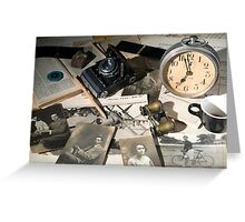 About Time : the photographer desk Greeting Card