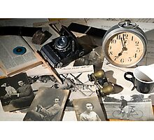 About Time : the photographer desk Photographic Print