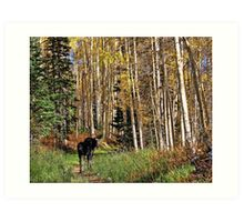 To Hike With A Moose Art Print