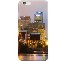 Cincinnati Skyline And The John A. Roebling Suspension Bridge iPhone Case/Skin