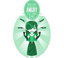 Get angry Photographic Print