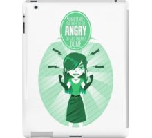 Get angry iPad Case/Skin