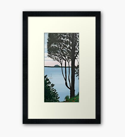 View from Omokoroa Point, New Zealand Framed Print