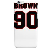 NFL Player Everette Brown ninety 90 iPhone Case/Skin