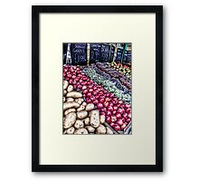 The greengrocers Framed Print