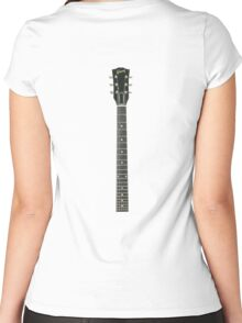 Guitar Neck Women's Fitted Scoop T-Shirt