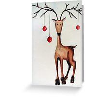 Cherry Reindeer Greeting Card