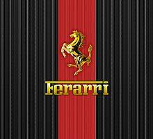 Ferrari Lover #3 [Gold - Red] by vdezine