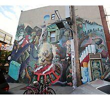 Graffiti & Bikes Photographic Print