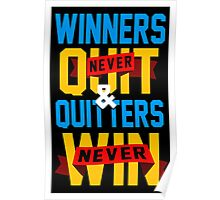 Winners Never Quit Poster