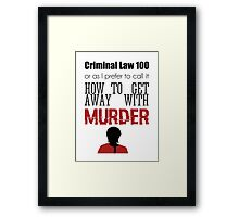 Criminal Law 100 Framed Print