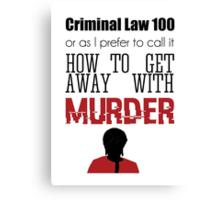 Criminal Law 100 Canvas Print