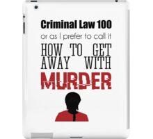 Criminal Law 100 iPad Case/Skin