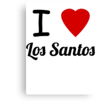 I Heart Los Santos Canvas Print