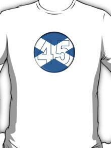 FREE SCOTLAND 45 Button Design T-Shirt