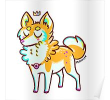 Tiny Shiba Inu puppy Poster