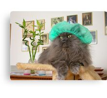 Romeo With Green Surgery Cap Canvas Print