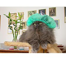 Romeo With Green Surgery Cap Photographic Print