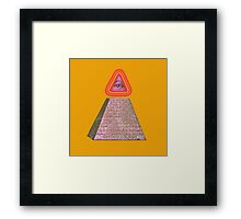 The non-linear nature of time. Framed Print