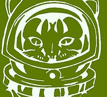 OLIVE GREEN SPACE CAT SMARTPHONE CASE (Graffiti) by leethompson