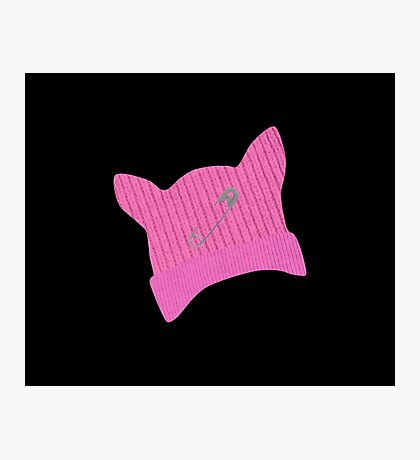 Pink Pussy Knit Hat Photographic Print