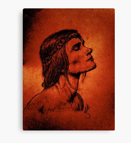 A Woman Born from Fire Canvas Print