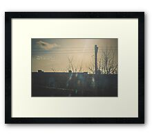 """""""There is a crack in everything. That's how the light gets in.""""  ~ Leonard Cohen Framed Print"""