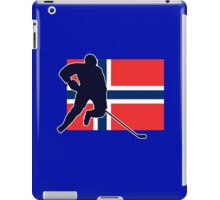 I Love Norge - Norway National Flag & Hockey Player Skjorte iPad Case/Skin