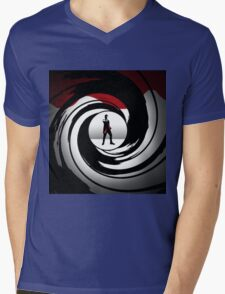 Doctor Who James Bond Logo Mens V-Neck T-Shirt